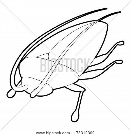 Cockroach icon. Outline illustration of cockroach vector icon for web