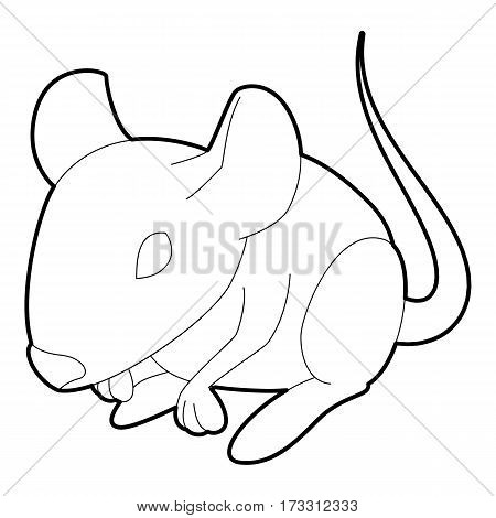 Rat icon. Outline illustration of rat vector icon for web