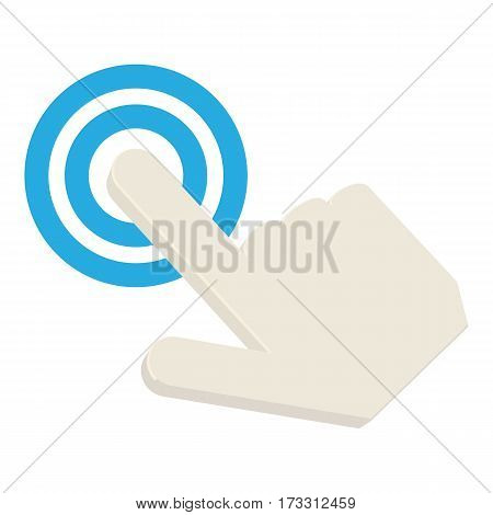Touching cursor icon. Cartoon illustration of touching cursor vector icon for web