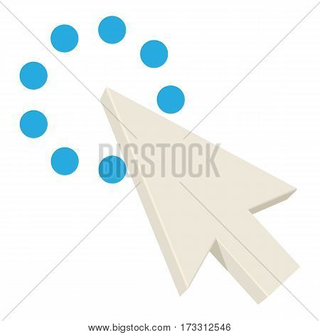 Pointing cursor icon. Cartoon illustration of pointing cursor vector icon for web