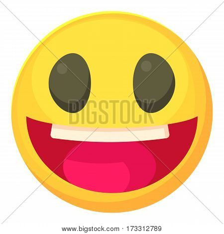 Laughing smiley icon. Cartoon illustration of laughing smiley vector icon for web