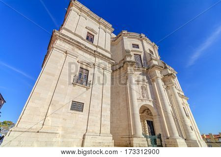 A view of the National Pantheon in Lisbon Portugal