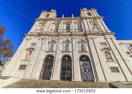 View of the church of São Vicente de Fora in Lisbon