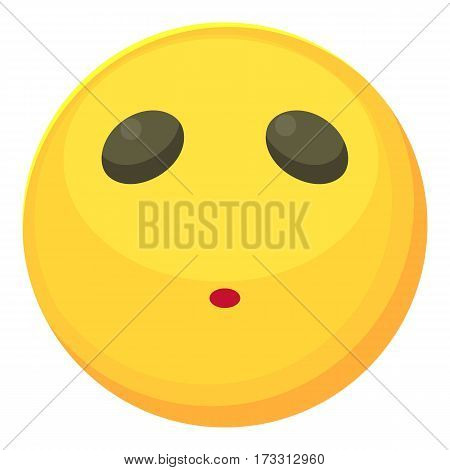 Neutral smiley icon. Cartoon illustration of neutral smiley vector icon for web