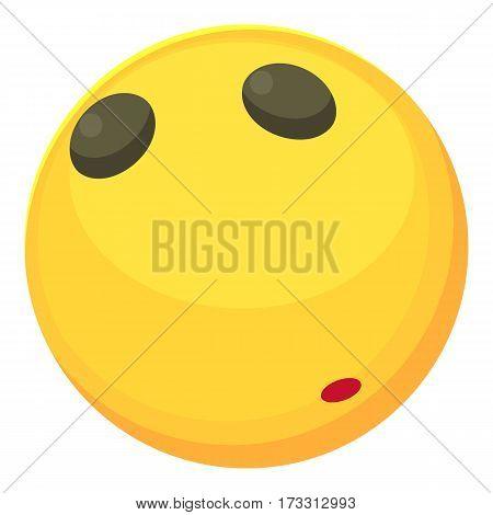 Calm smiley icon. Cartoon illustration of calm smiley vector icon for web