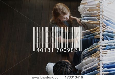 Barcode overlay word young people