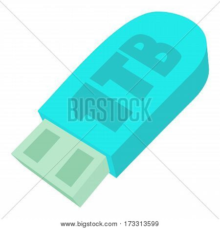 Flash drive icon. Cartoon illustration of flash drive vector icon for web