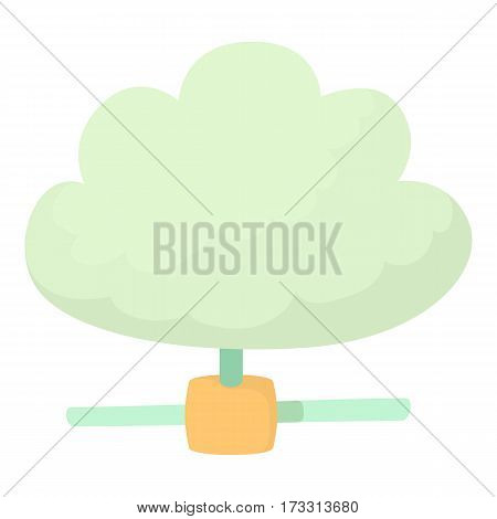 Cloud database icon. Cartoon illustration of cloud database vector icon for web