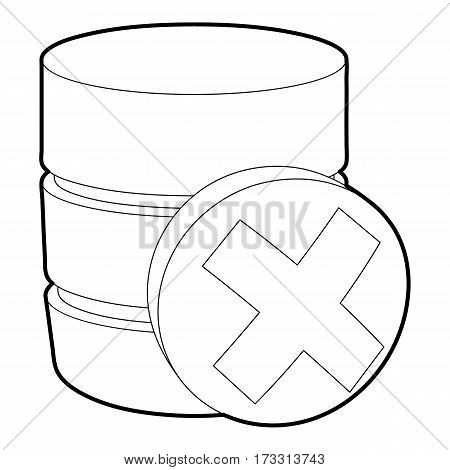 Closed database icon. Outline illustration of closed database vector icon for web