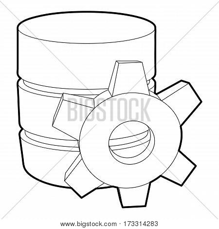 Working database icon. Outline illustration of working database vector icon for web