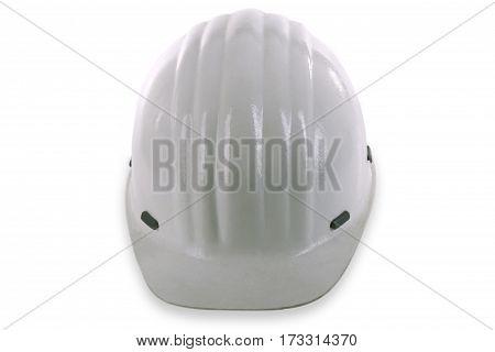White Hard Hat isolated on white background