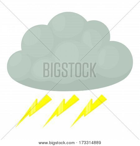 Thunderstorm icon. Cartoon illustration of thunderstorm vector icon for web