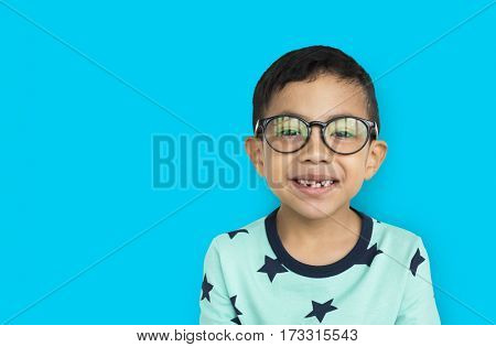 Little Boy Wearing Glasses Concept