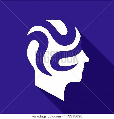 Depressive brain icon. Flat illustration of depressive brain vector icon for web