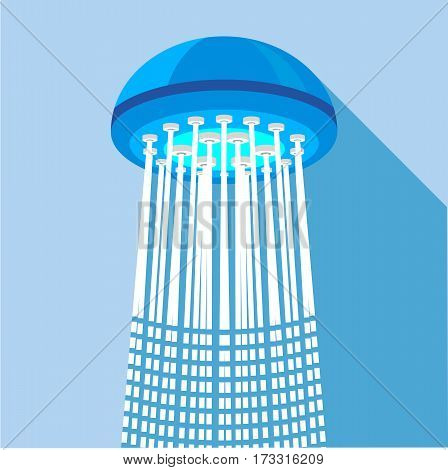 Shower icon. Flat illustration of shower vector icon for web