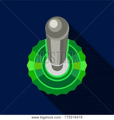 Round detail icon. Flat illustration of round detail vector icon for web
