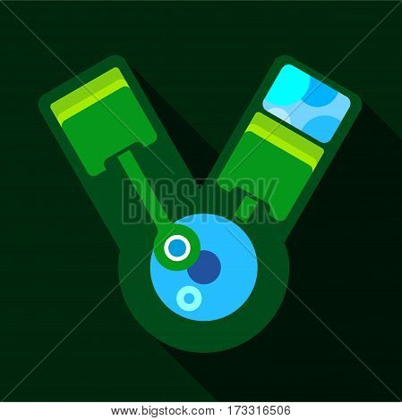 Industry robot icon. Flat illustration of industry robot vector icon for web