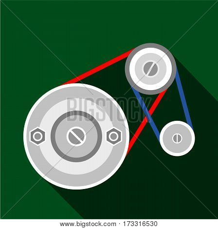 Mechanic belt icon. Flat illustration of mechanic belt vector icon for web