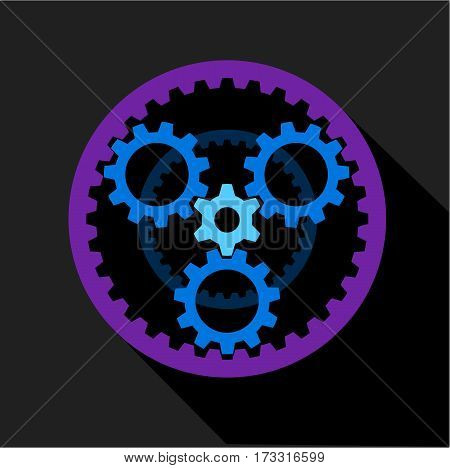 Clockwork icon. Flat illustration of clockwork vector icon for web