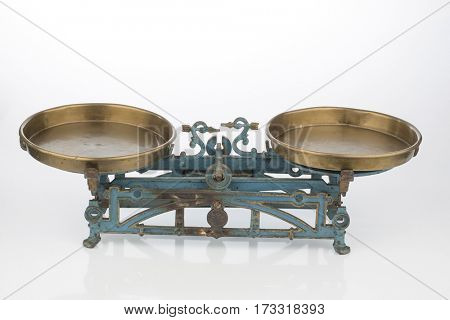 old balance with two bowls