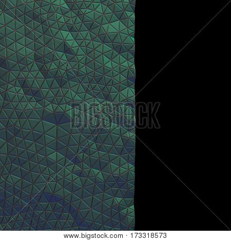 Abstract, eometric triangle green mosaic background. 3D rendering