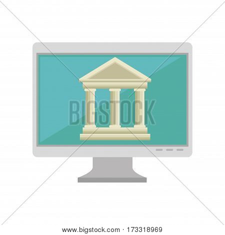 online education concept icon vector illustration design