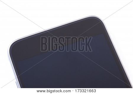 Mobile Phone With Blank Screen On White Background, Smartphone