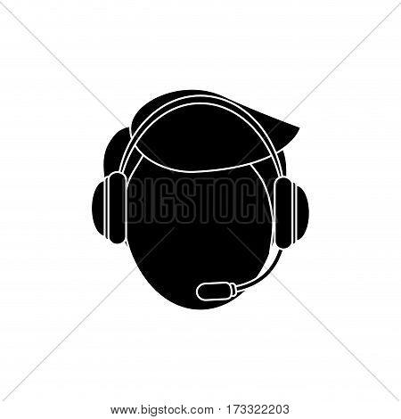 Call center operator icon vector illustration graphic design