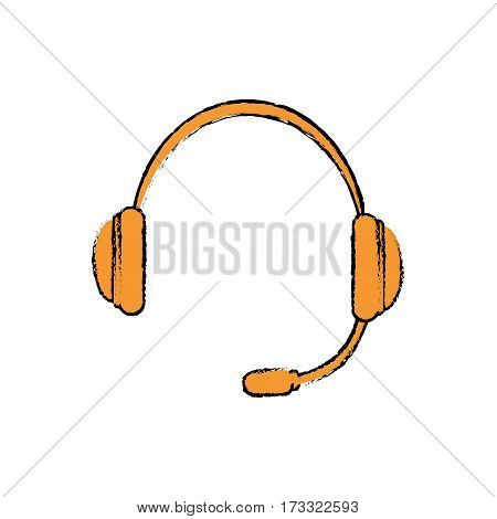 Headset communication device icon vector illustration graphic design
