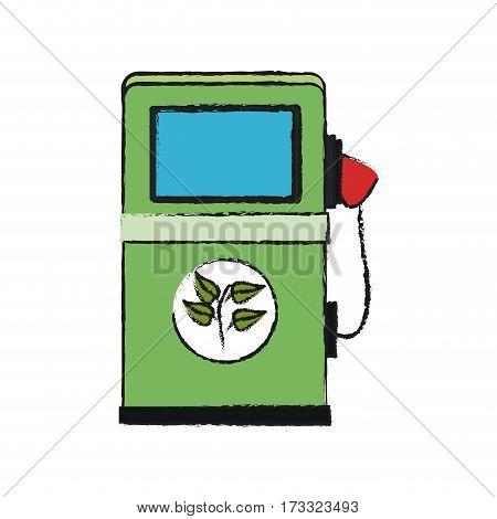 bio fuel pump icon over white background. vector illustration