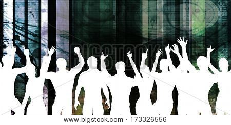 Disco Electronic Music Techno Party Background Art 3D Illustration Render