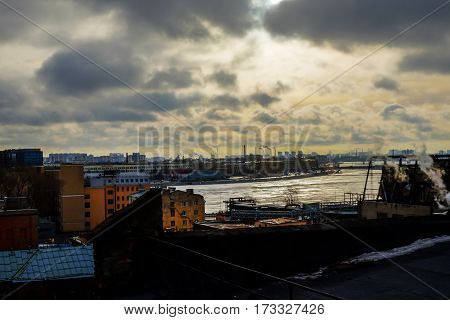 the picturesque landscape of the industrial city