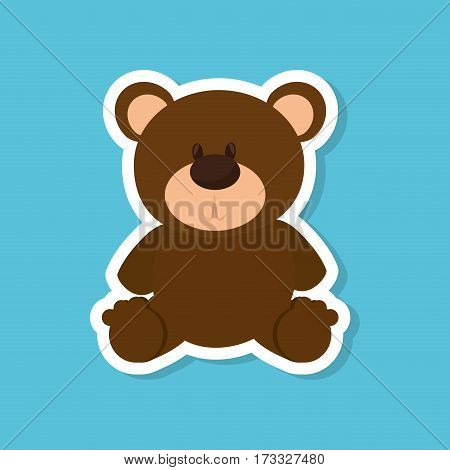 bear teddy baby toy vector illustration design