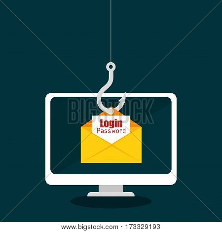 spam electronic mail icon vector illustration design