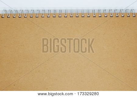 brown cover notebook background , clean notebook