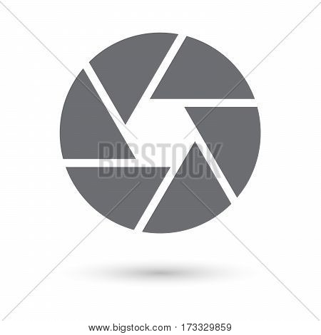 Shutter icon isolated on white background for web design app logo UI vector illustration