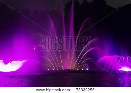 Fountain In The Ukrainian City Of Vinnitsa