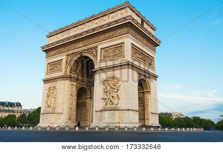 The Triumphal Arch is one of the most visited monuments in Paris. It honors those who fought and died for France.