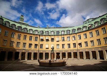 Brantingtorget square in Gamla Stan Stockholm Sweden