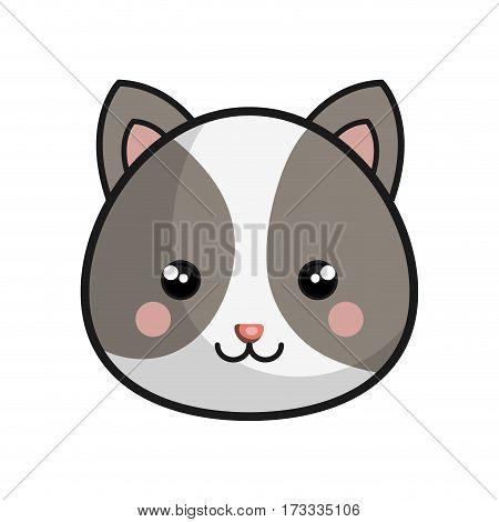 cute chipmunk kawaii style vector illustration design