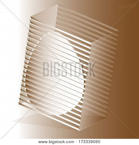 Abstract holiday egg Author box design openwork shade style handmade paper applique prospect of volume flow vector illustration of a large drawing