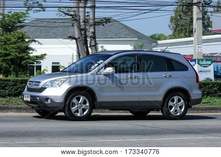 CHIANG MAI THAILAND -DECEMBER 1 2016: Private Honda CRV suv car. Photo at road no.121 about 8 km from downtown Chiangmai thailand.