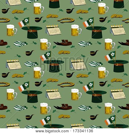 St. Patrick's Day seamless pattern,unlimited of area expansion