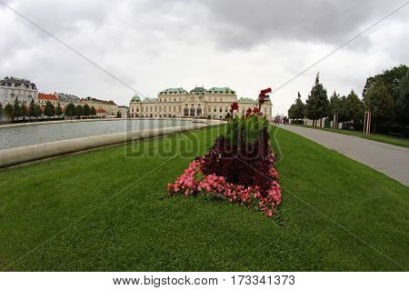 Vienna, Austria - August 27, 2014: Upper Belvedere Castle
