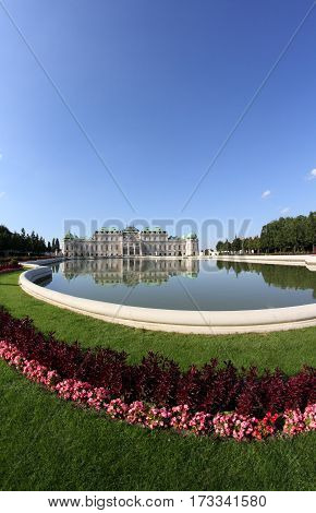 Vienna, Austria - August 28, 2014: View Of The Little Lake And T
