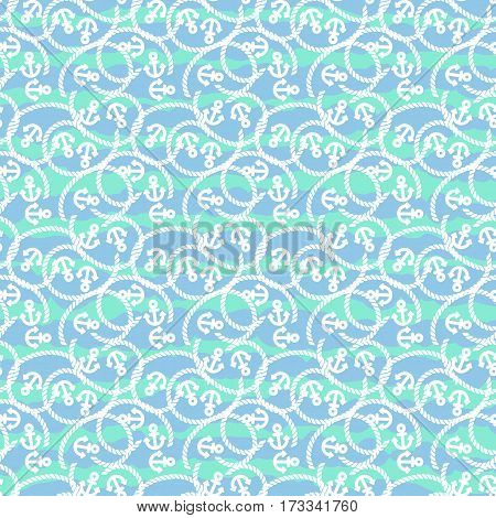 Seamless pattern with anchors. Ongoing backgrounds of marine theme. Vector illustration