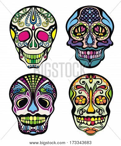 Sugar Skull for your design.Skull collection illustration