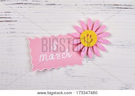 Greeting card and decorative mood. Give her a good mood.