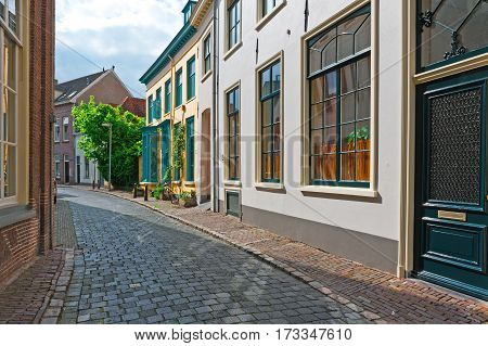 The Narrow Street in the Dutch City of Zutphen