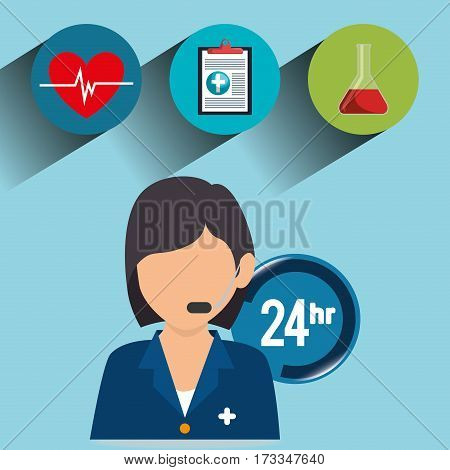 healthcare professional avatar character vector illustration design